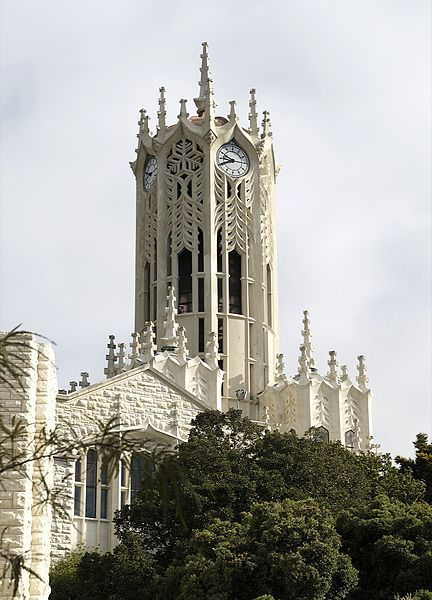 The clock tower at University of Auckland, New Zealand (by Aaron Corn). This just had to be the land of the Lord of the Rings. Fullstop.