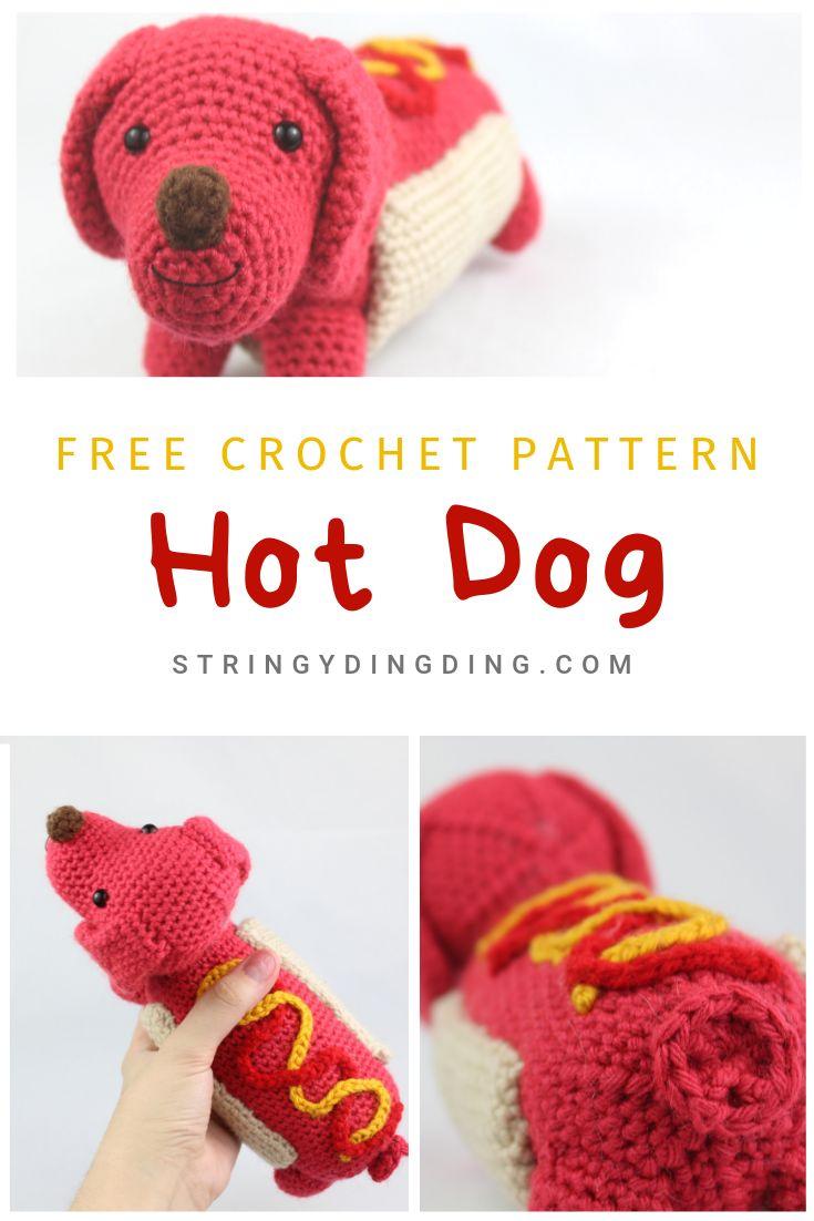 Hot Dog Amigurumi – Free Crochet Pattern