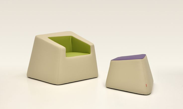 """Bon Bon armchair and footstool in the colours of nature and flowers, to match the """"naturalmentechic"""" module for hospitality. Design: Daniele Menichini"""