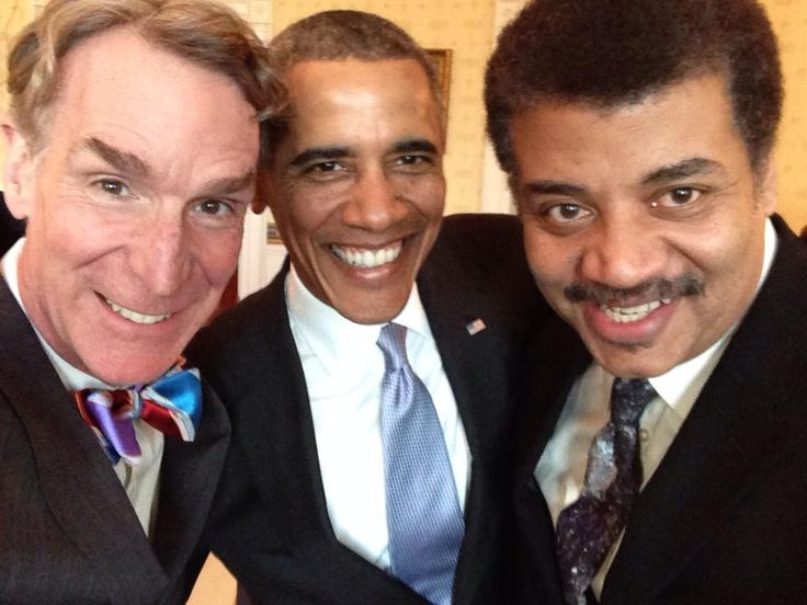 So, an astrophysicist, an engineer, and the President of the United States walk into The Blue Room....