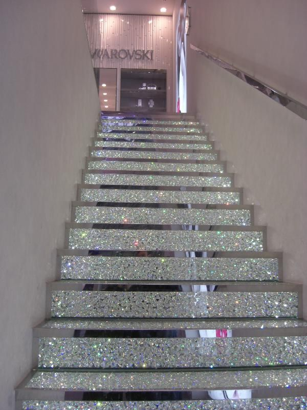 Swarovski crystal stair case on the Champs Elysee