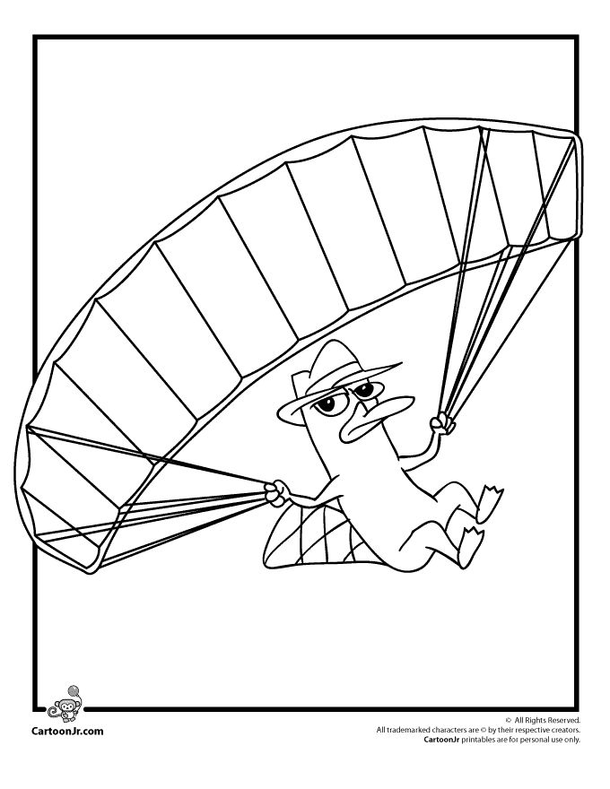 free platypus coloring pages - photo#34