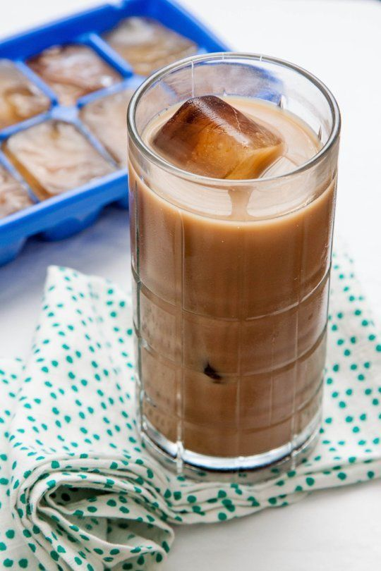 Hate watery iced coffee? Make a batch of coffee ice cubes.