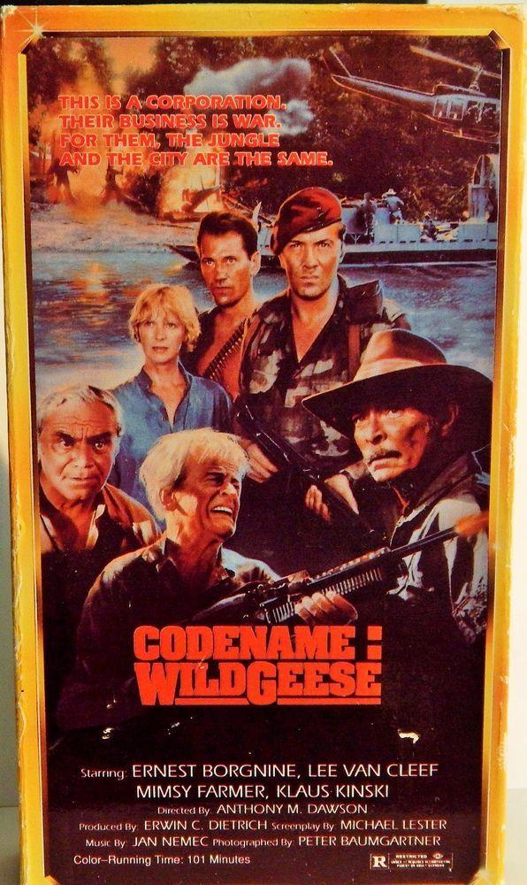 CODENAME: WILDGEESE (1990 ADVENTUR)VHS MIMSY FARNER, LEE VAN CLEEF, KLAUS KINSKI