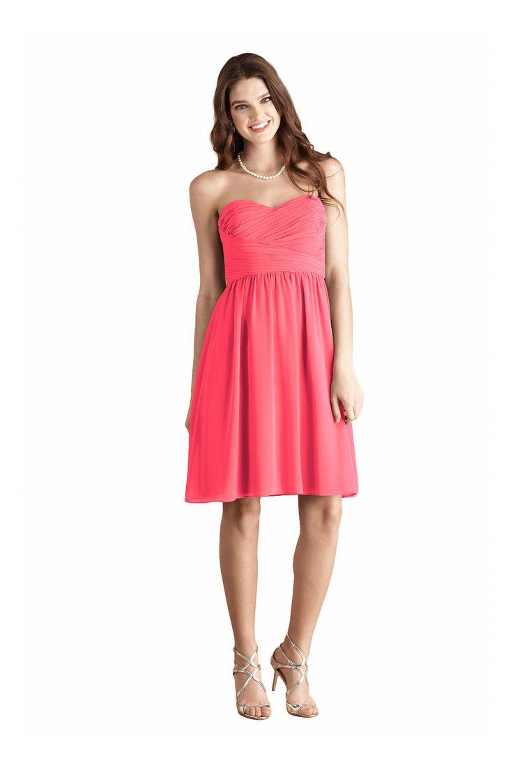 Großartig Korallenrosa Brautjungfer Kleid Zeitgenössisch ...