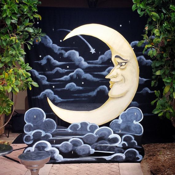 Build Your Own Paper Moon Booth 4 items by DAPPSY on Etsy