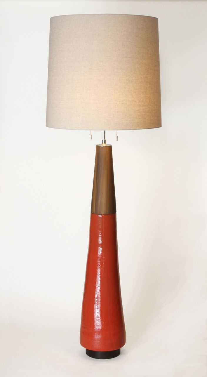 Incline Floor Lamp Lesley Anton Handmade Ceramic Lighting
