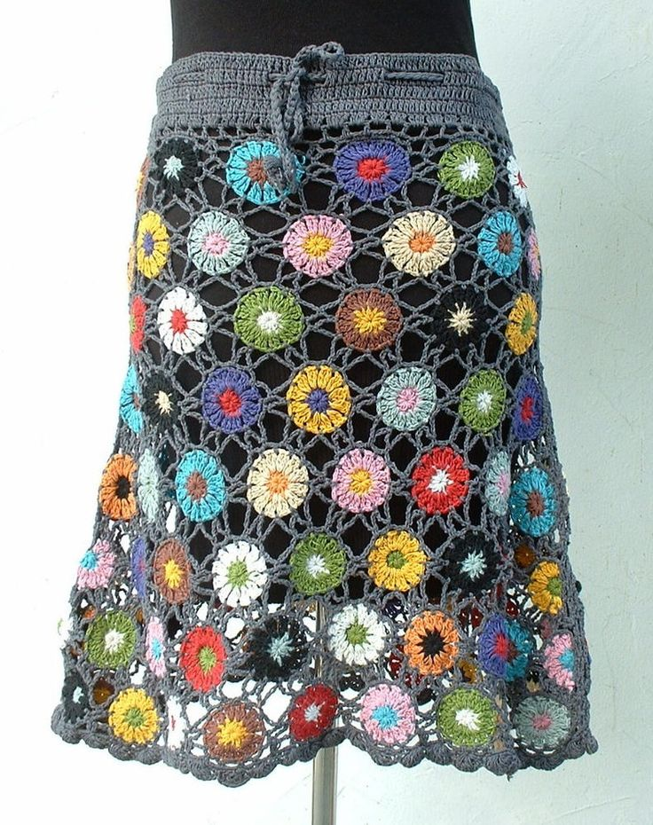 ♥ Häkelrock ♥ NEPAL Rock Netzoptik Blüten Hippie Ethno Boho Goa Flower Power   in Kleidung & Accessoires, Damenmode, Röcke | eBay!