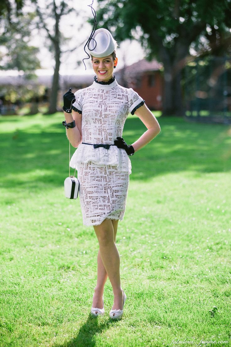 Inspirational ideas for: Race day dress, fascinator, races outfit, races fashion, fashion on the field, Melbourne Cup, Derby, Ascot