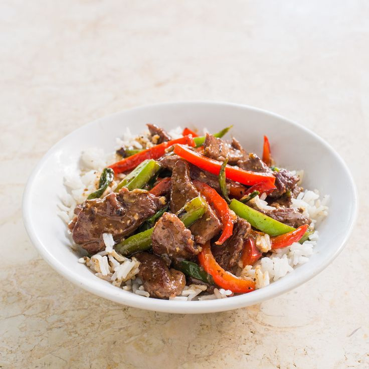 Beef Stir-Fry with Bell Peppers and Black Pepper Sauce