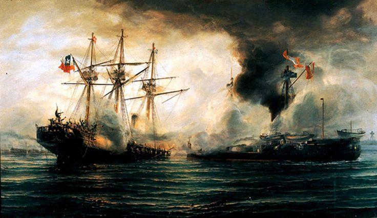Sinking of the Esmeralda during the battle of Iquique - Guerra del Pacífico - Wikipedia, la enciclopedia libre