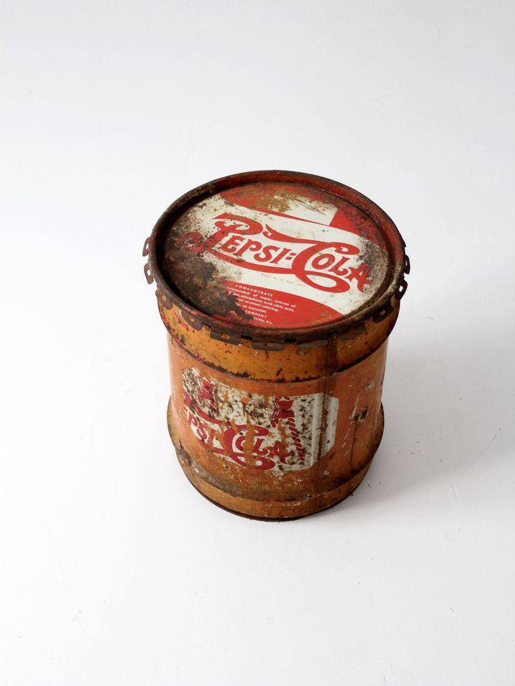 vintage Pepsi-Cola syrup drum