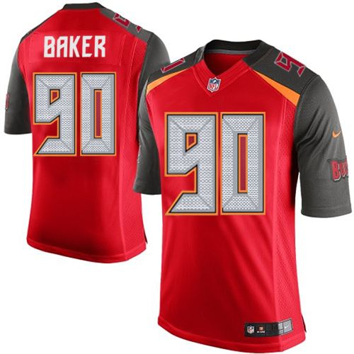 Youth Nike Tampa Bay Buccaneers #90 Chris Baker Limited Red Team Color NFL Jersey