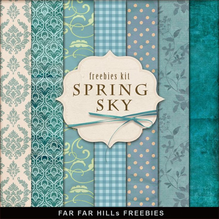 New Freebies Background Kit - Spring Sky