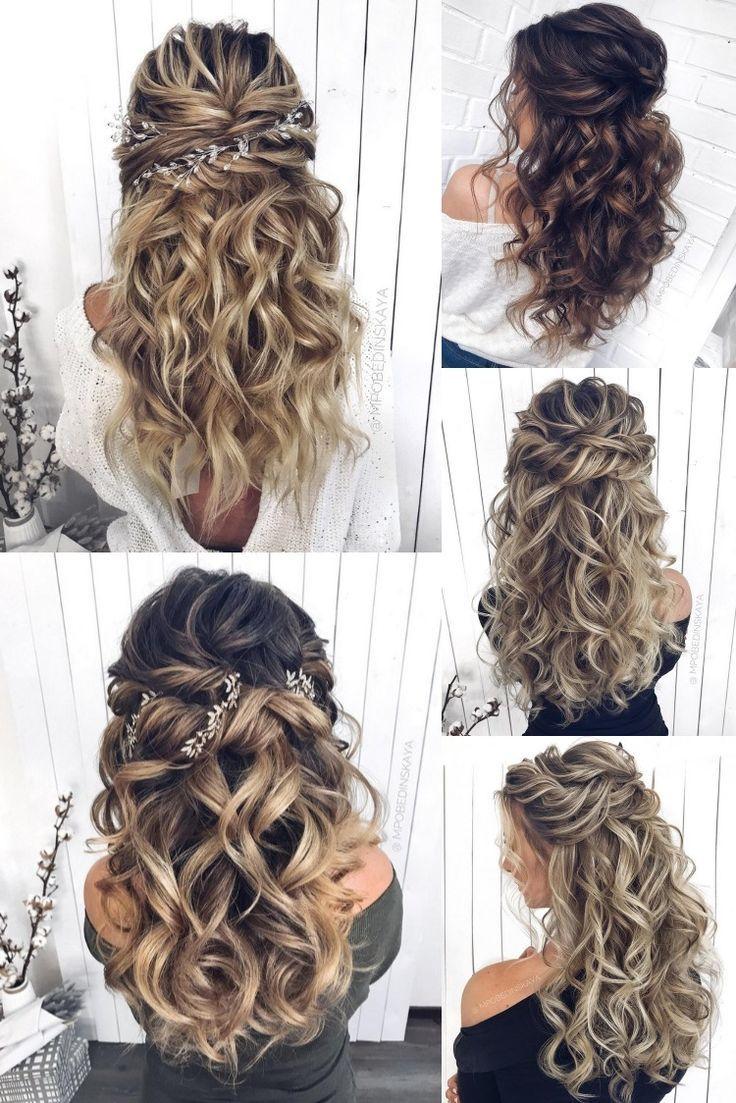 30 Half Up Half Down And Updo Wedding Hairstyles From Mpobedinskaya Bridesmaid Hairstyles Half Up Half Down Half Up Hair Long Hair Styles