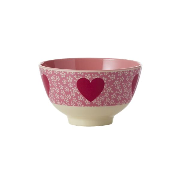Small Heart Melamine Bowl by Rice DK, Offerd by Modern Rascals. Fun, Durable Kids Cups and Dishes.