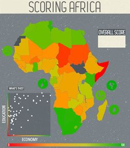 #interactive #application to visualize score in African countries #map