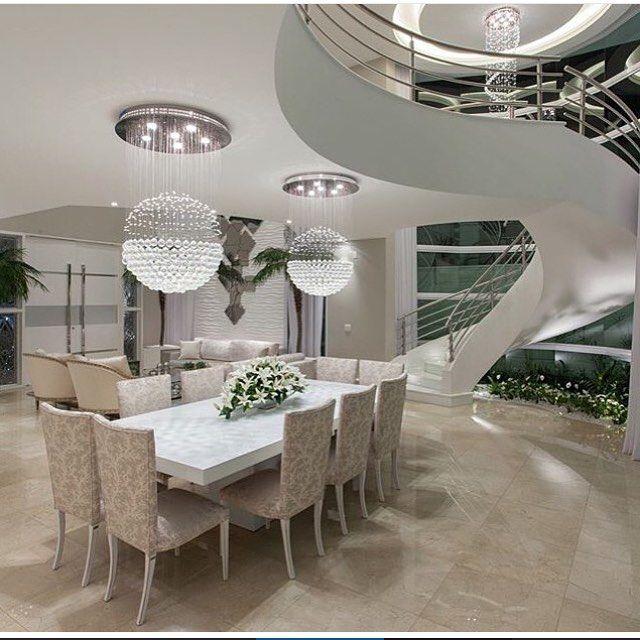 Ilumina o de salas modernas p direito duplo natural - Mesas de sala modernas ...