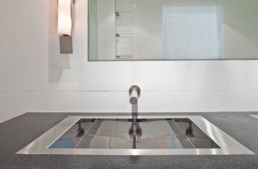 Bathroom Lavs in a flush-mount installation -kitchen-sinks
