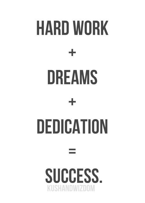 hard work dreams dedication to success