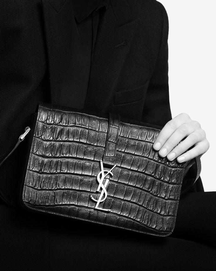 Sloane Crocos Embelli Slide - Coins Pour Femmes / Noir Crocos F40gCM