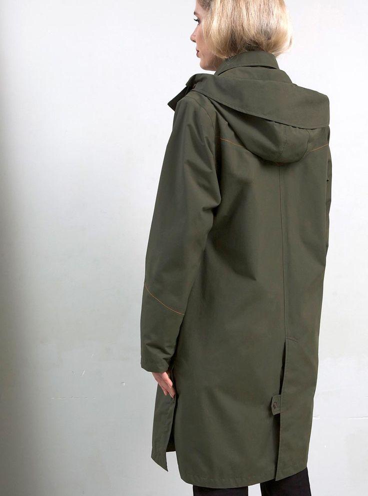 WATERDICHT Amsterdam Straincoat Urban, stylish raincoat Model: straight fit