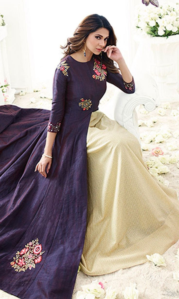 Buy online Purple Designer Floor Length Anarkali Suit (SKU Code : SUEMUG1113) at Ishimaya Fashion.