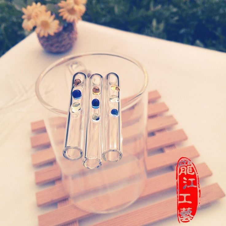 Protection Environmental Health  Glass Pipet Bar Heat Resistant Bar  Glass Straw Curved KFC Fruit Juice Beverage Straws