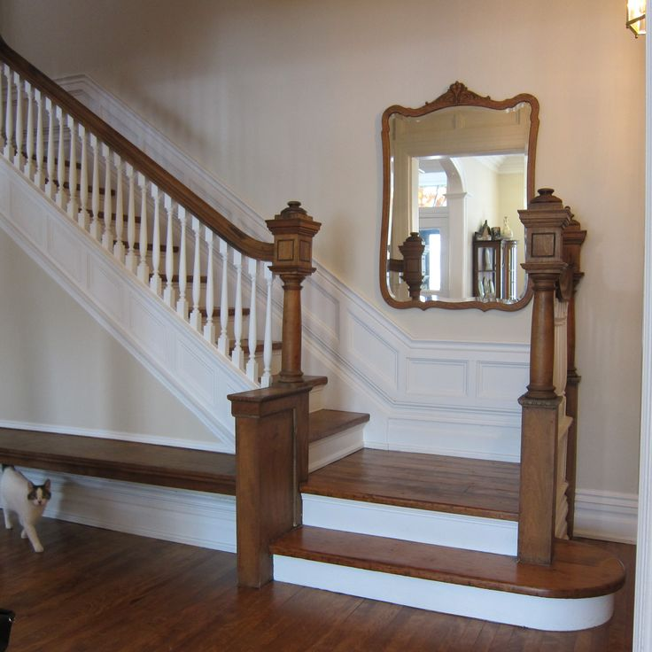 Refinished staircase and banister