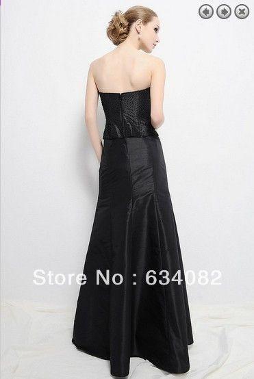 1f30adeee18a besplatna dostava 2014 ženska elegantna haljina plus veličina vestidos  formales dugih rukava crna Majka nevjesta haljine s jaknom