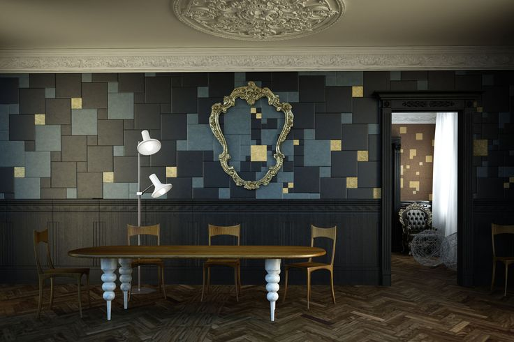 A liberty-style villa renewed following its original elegance. Lapèlle leather tiles decorate the walls of the dining and the living rooms. Same composition, different colours: which one do you prefer? discover more: http://www.lapelledesign.com/realizations/