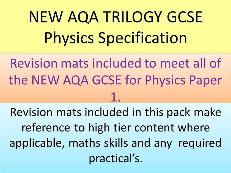NEW AQA 2016 GCSE Trilogy Physics revision mats