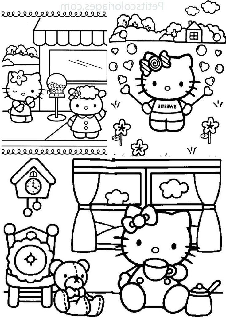 143 dessins de coloriage Hello Kitty à imprimer en 2020 ...