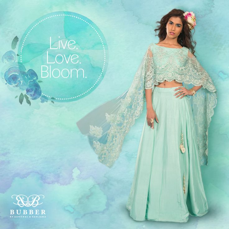 Live. Love. Bloom. Order Bubber Couture's 'Aster' Cape Lehenga Ensemble Today! Contact Us: 📞 9819980846/9820709875  🏠 The Bubber Couture Store. 📍 https://goo.gl/maps/YvPDNrLEuBv 📧 info@bubbercouture.com . . . . #sakura #cherryblossom #odetoacherryblossom #mint #elegant #beautiful #cape #lehenga i #indianwear #indianbride #traditional #womenstyle #stylish #bride #bridesmaid #instafashion #instastyle #instagood #trendsetter #handcrafted #couture #luxury #bespoketailoring #modern…