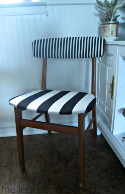 Reupholstering second hand chairs   The Learner Observer