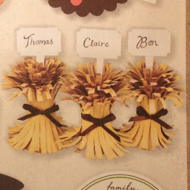 Best ideas about thanksgiving name cards on pinterest