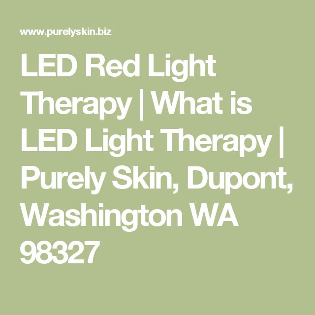 LED Red Light Therapy What Is LED Light Therapy Purely Skin