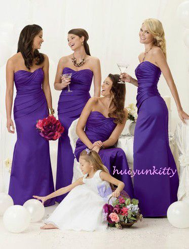 2012 cadbury purple evening wedding bridesmaids dress dress size 8-22 | eBay    LOVE LOVE LOVE THE DRESSES AND THE COLOR!!!