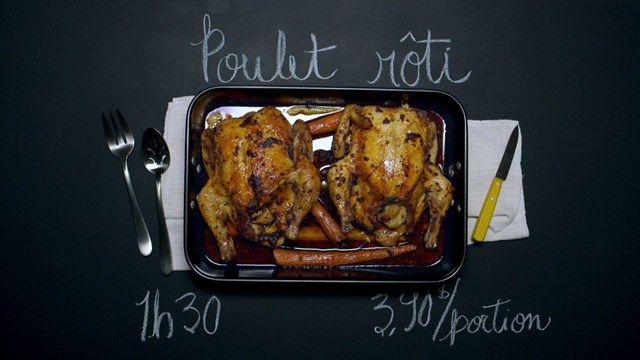 Poulet rôti | Cuisine futée, parents pressés, délicieux, rappelle le poulet rôti du magasin mais mois salé et moins gras