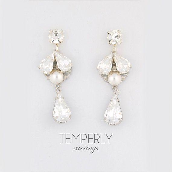 Gold Wedding Earrings Pearl Drop Earrings Bridesmaids Earrings