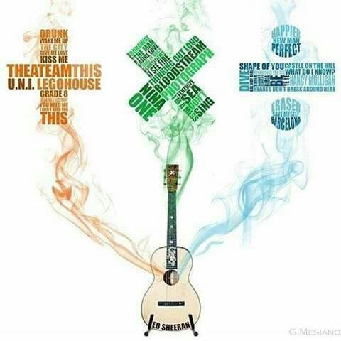 The three albums by Ed Sheeran.
