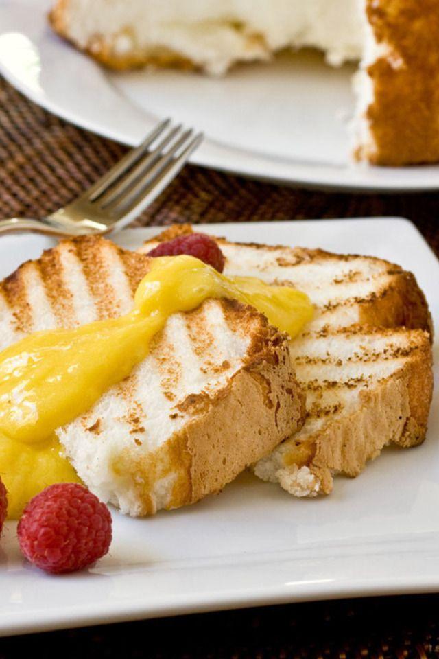 Grilled Angel Food Cake with Lemon Curd | Dessert Recipes | Pinterest ...