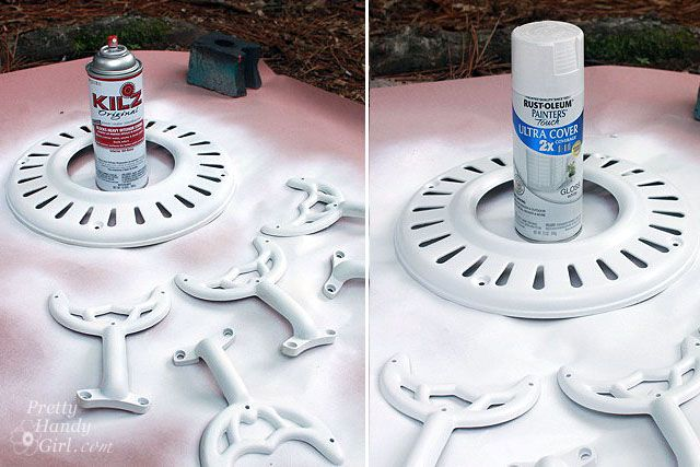 Repainting a ceiling fan -- step-by-step photo tutorial, suggestions on products