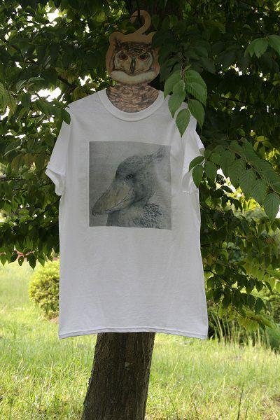 ご覧いただきありがとうございます。オリジナル ハシビロコウの肖像画をTシャツにプリントしてみました。サイズはメンズのSです。レディースでは9号強か11号位にな...|ハンドメイド、手作り、手仕事品の通販・販売・購入ならCreema。