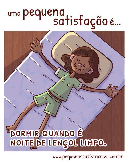 … dormir quando é noite de lençol limpo.sugestão do Lucas Guimarães! :3quem aí troca a roupa de cama nas sextas?