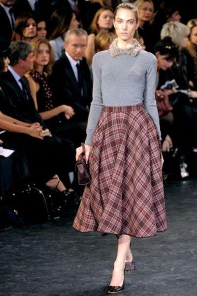 plaid skirts for fall
