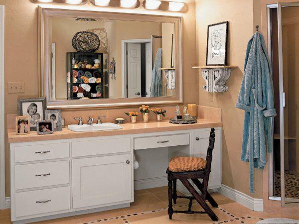 Traditional Bathroom, Vanity Area And Medicine