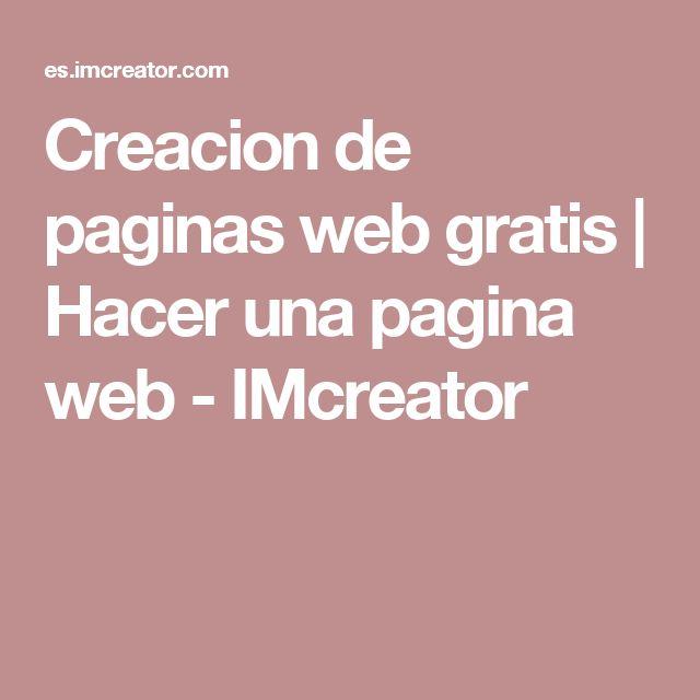 Creacion de paginas web gratis | Hacer una pagina web - IMcreator