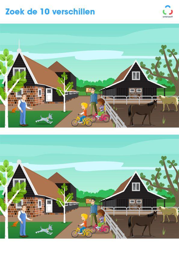 Ambrasoft - Knutselplaat voor kinderen van Tom en Tamira - zoek de 10 verschillen