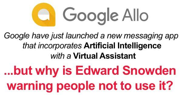 "Google Allo Privacy  Google has built artificial intelligence into its new Allo ""smart messaging"" app to deliver a better chatting experience, but at what cost to our personal privacy?    What actually is Allo and why does it have privacy advocat..."